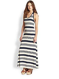 Ralph Lauren Blue Label - Eliana Striped Jersey Maxi Dress
