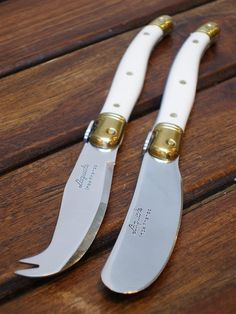 """Laguiole Cheese Knife & Spreader Set, ~6""""l, $24"""