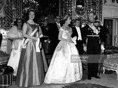 Queen Ingrid wore this tiara for a dinner during the Danish State visit to Iran on May 4, 1963.