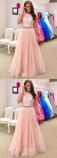 Pink Prom Dresses Two Piece, Long Formal Evening Dresses Modest, A-line Military Ball Dresses Halter, Tulle Pageant Graduation Party Dresses Beading Year 10 Formal Dresses, Pink Formal Dresses, Prom Dresses Two Piece, A Line Prom Dresses, Formal Evening Dresses, Party Dresses, Pageant Dresses, Mini Dresses, Dress Prom