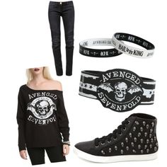 """""""avenged sevenfold outfit"""" by ladyluvlett on Polyvore"""