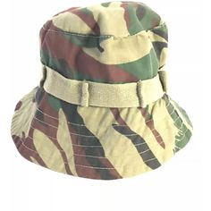ce2e43a8e6a Vintage Camo Bucket Hat (48 RON) ❤ liked on Polyvore featuring accessories