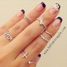 54 Hot Handscapes: How To Wear Stackable Rings With Style