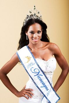 Scharllette Allen Moses was the first black to win the Miss Nicaragua Universe Pageant in 2010.