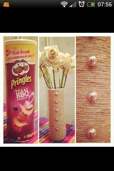 Pringles Rope Vase