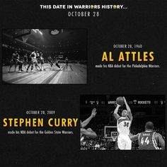 On this date in #GSWHistory, these two #Warriors made their NBA debuts - Al Attles (1960) & Stephen Curry (2009).