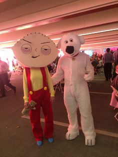 Homemade Family Guy Halloween costumes. Brian & Stewie Griffin.