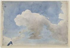"""Eugène Delacroix """"nuage"""" étude"""