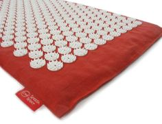 Spoonk Space Travel Mat - Organic Hemp and Cotton acupressure mat - RED #Spoonk