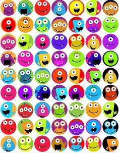 KPM digitale Collage Blatt Monster 1 Zoll-circles KPM digital collage sheet Monster 1 by kpm Monster Party, Monster Birthday Parties, Cute Monsters, Monsters Inc, Little Monsters, Monster Classroom, Bottle Cap Magnets, Classroom Themes, Digital Collage