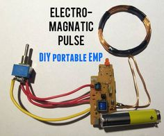 Imagine that you have powers to stop any electronic device, is it only possible in movies?well here's the way to make an emp jammer (Electromagnetic pulse. Electronics Projects, Electrical Projects, Electrical Engineering, Electronics Gadgets, Tech Gadgets, Computer Projects, Electronic Engineering, Diy Tech, Cool Tech