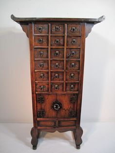 Antique Chinese Apothecary Cabinet, Doctors Herb Medicine Cabinet ...
