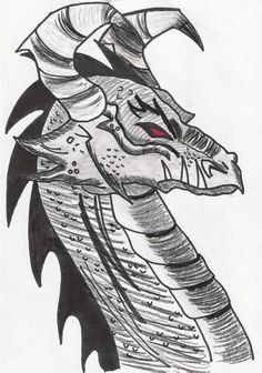 My first dragon drawing (: