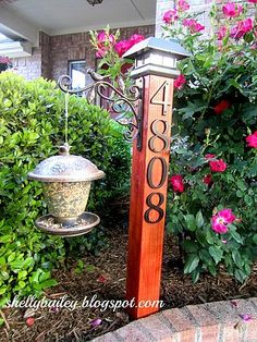 DIY House Number Yard Post - A Pinterest Inspired Project | Shelly's Creations | Bloglovin'