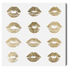 Kisses Canvas Print, Oliver Gal at Joss and Main Canvas Frame, Canvas Art, Canvas Prints, Lifehacks, Oliver Gal Art, Showcase Design, Sculpture, One Kings Lane, Joss And Main