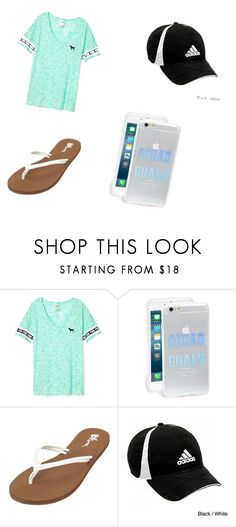 """Untitled #70"" by hcampbell-1 ❤ liked on Polyvore featuring Victoria's Secret, Sonix, Volcom and adidas"