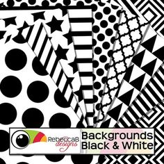 Backgrounds Black and White contains 10 black and white patterned, letter size backgrounds. Place borders, frames and text over the top to create fun product covers, worksheets, activities, posters or print on colored card for a different combination.