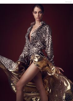 Animal Print and Gold Dress Alexandre Vauthier available at Oxygene Boutique