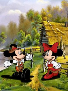 DISNEY MICKEY AND MINNIE MOUSE GIF