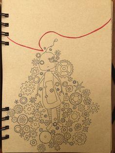 Drawing Diary , robot , dibujo