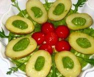 Boiled Potatoes with Arugula Pesto