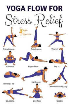 Yoga Flow for Stress ReliefYou can find Yoga fitness and more on our website.Yoga Flow for Stress Relief Yoga Fitness, Fitness Workouts, Health Fitness, Health Yoga, Yoga Workouts, Beginner Yoga Workout, Beginner Yoga Routine, Easy Beginner Workouts, Yoga For Mental Health