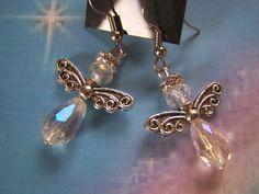 Angel Earrings Crystal by lindasorigjewelry on Etsy