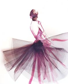 Ballerina croquis | Fashion illustrations | Paper Fashion