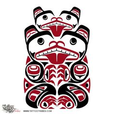 Haida bear    Bears represent strength to every people that came to know them, and Haida people are no exception, symbolising for them also teaching, humility and introspection.    They are also powerful symbols of protection and love to children (the most dangerous animal in a forest is a mother bear with cubs), and on account of this, as it often happens, we decided to draw this bear with a cub.    Bears were also so revered by Haida people that they called them Elder Kinsmans.