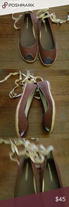 Selling this BANANA REPUBLIC  ANKLE  WRAP  FLATS in my Poshmark closet! My username is: fludrey. #shopmycloset #poshmark #fashion #shopping #style #forsale #Banana Republic #Shoes