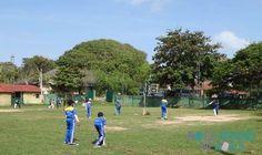 Cricket Spieler in Galle, Sri Lanka