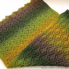 Crochet Knitting Handicraft: Maple stole