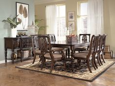 Key Town Dining Room Set by Ashley Furniture $1969 AS SHOWN With Server Key Town Rectangular Extension Table $516