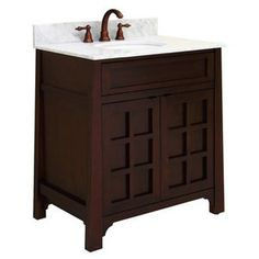 "sagehill sagehill Bathroom Vanities and Furniture, FREE Shipping, Weekly SALE! 30"" wood park dale collect"