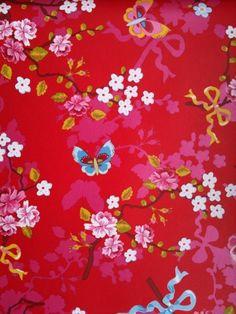 Bloom Wallpaper Wallpaper Butterfly red