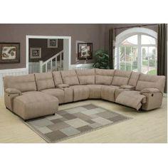 Charmant 8pc Modern Sectional Reclining Leather Sofa #AC SAMUEL