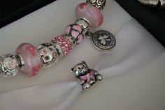 Pandora Children's pink charm bracelet,Granddaughter jewelry,Love,silver,Crystal,Artificial diamond,Flower girl jewelry Party,Wholesale or retail. $7.99 by beautifulseasondiy http://www.beautifulseasondiy.com/collections/frontpage/products/silver-children-pink-charm-bracelet-granddaughter-jewelry-love