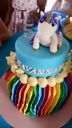 Unicorn cake customer photo - annabethbakes Cake Toppers, Unicorn, Birthday Cake, Desserts, Photos, Food, Tailgate Desserts, Birthday Cakes, Deserts