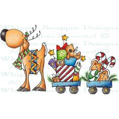 Whipper Snapper Designs - Whipper Snapper Cling Stamp - Dasher's Holiday Gifts