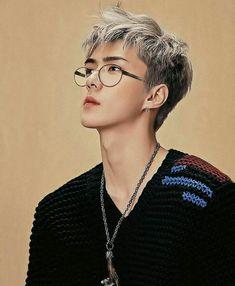 Idk if this is fanart or Sehun is just THAT beautiful Kpop Exo, Chanbaek, Exo Ot12, Sehun Oh, Chanyeol Baekhyun, Sehun Cute, Pop Bands, Btob, K Pop