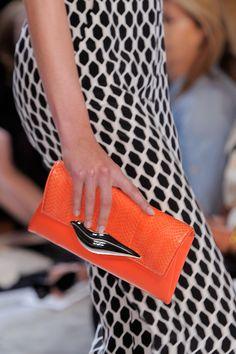 Diane von  Furstenberg Spring 2014 RTW #orange #clutch