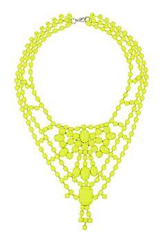 Coloured Metal Body Neckwear #neon #statement #necklace