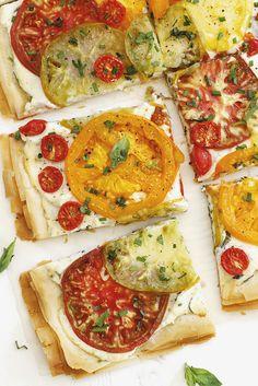 Tomato Ricotta Phyllo Tart   girlversusdough.com @girlversusdough