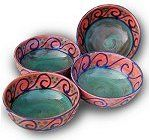 4 Round Soup Bowls - there is a huge potters market in Barbados. I wish I could have bought more of their beautiful pottery.