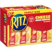 Ritz Cracker Sandwiches with Cheese - Family Size - Ritz Crackers, Peanut Butter Crackers, Peanut Butter Sandwich, Cheese Snacks, Fruit Snacks, Easy Snacks, Sandwiches, Cracker Cookies, Snack Items