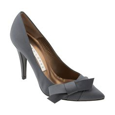 grey bow pump ❤ liked on Polyvore