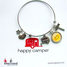 Happy Camper Boxed Expandable Bangle by ExpressioneryPendant