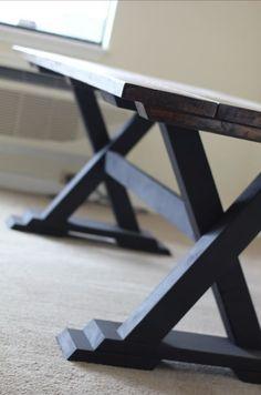 8ft Trestle Table Hand Built by JamesAndJames on Etsy, $800.00