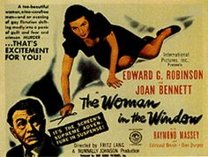 The Woman in the Window is a film noir directed by Fritz Lang that tells the story of psychology professor Richard Wanley (Edward G. Robinson) who mee. Raymond Massey, Edward G Robinson, Peter Lorre, Bogart And Bacall, Joan Bennett, Crime Film, Fritz Lang, Video Film, Portraits