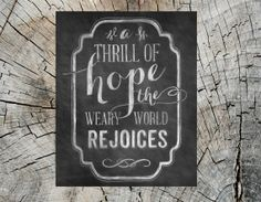 A Thrill of Hope Christmas & holiday handdrawn by recipeforcrazy, $17.50